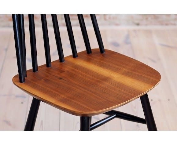 Lot de 4 chaises de salle à manger à dossier fuselé par Marian Grabiński pour Fameg