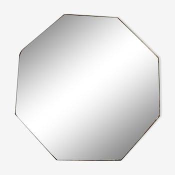 Octagonal mirror beveled 18x18cm