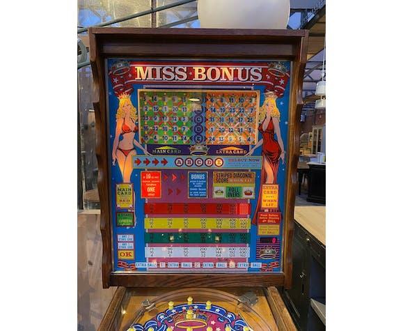 """Bingo """"Miss Bonus"""" des années 70"""
