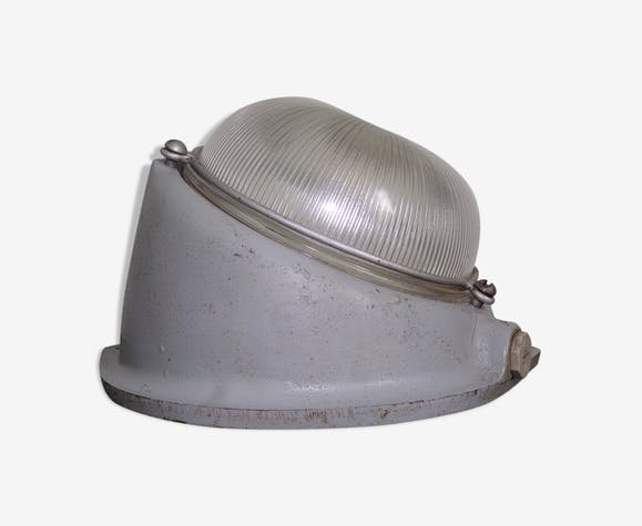 Mapelec style hubloy factory wall lamp metal grey industrial
