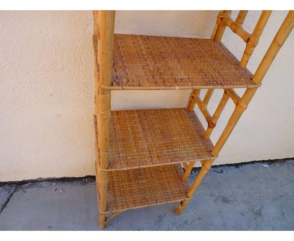 Bamboo shelf, rattan and rattan wicker