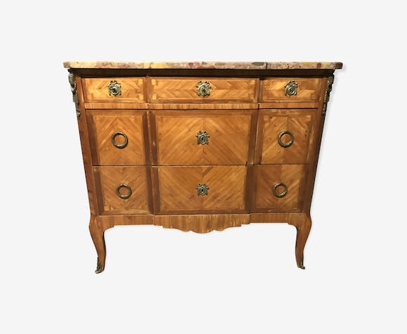 Commode Transition 1900 marqueterie