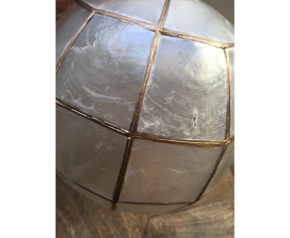 Vintage mother-of-pearl ball hanging