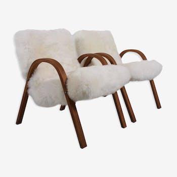 Paire de chaises Steiner Sheepskin Bow, 1948,