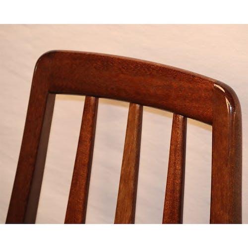 Série de 4 chaises scandinave en palissandre Niels Koefoed modèle Eva 1960