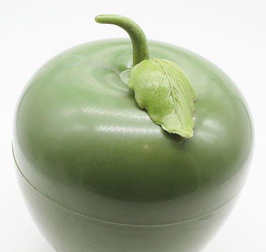 Seau à glace pomme verte vintage