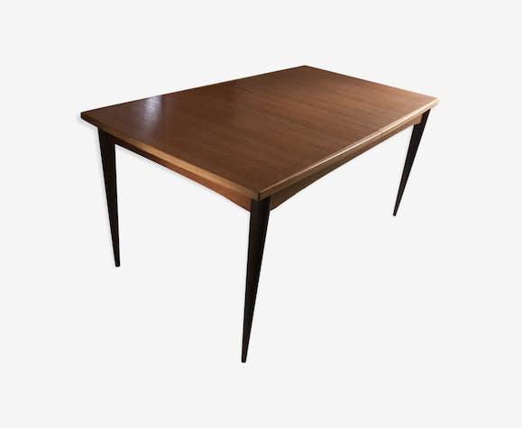 table scandinave en teck ann es 60 70 avec rallonge teck. Black Bedroom Furniture Sets. Home Design Ideas