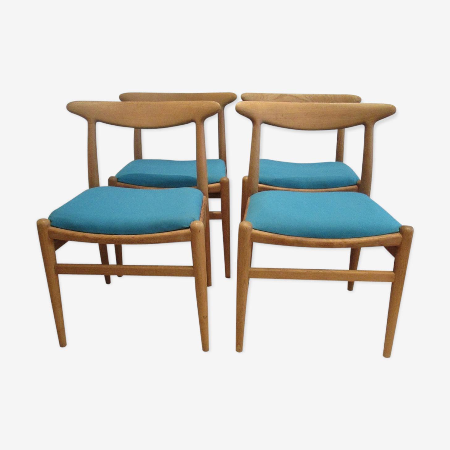4 chairs W2 by Hans Wegner
