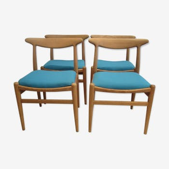 4 chaises W2 de Hans Wegner