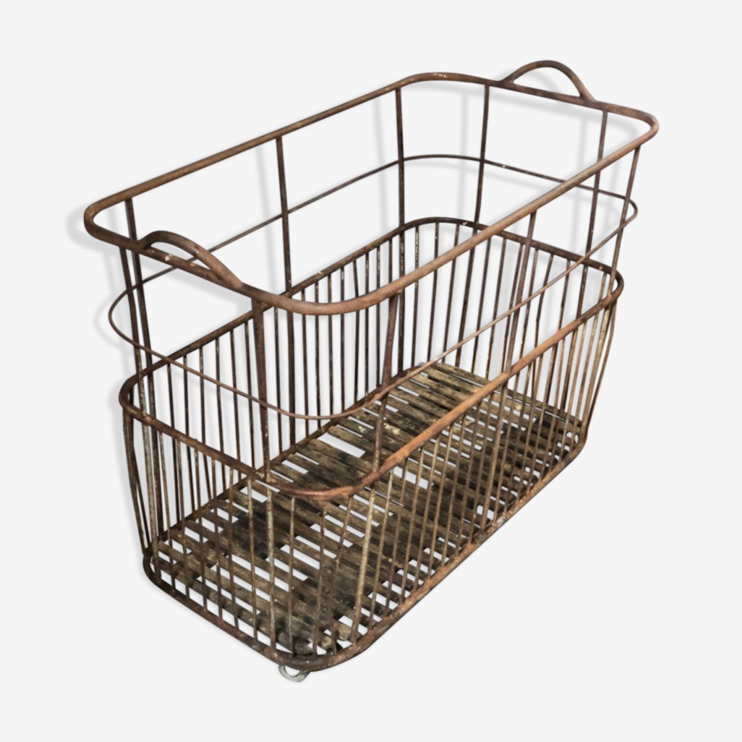 Iron basket old bakery