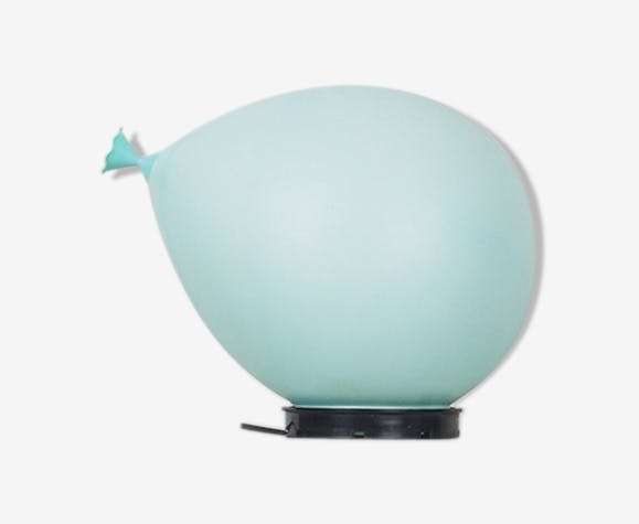 Vintage blue balloon table lamp by Yves
