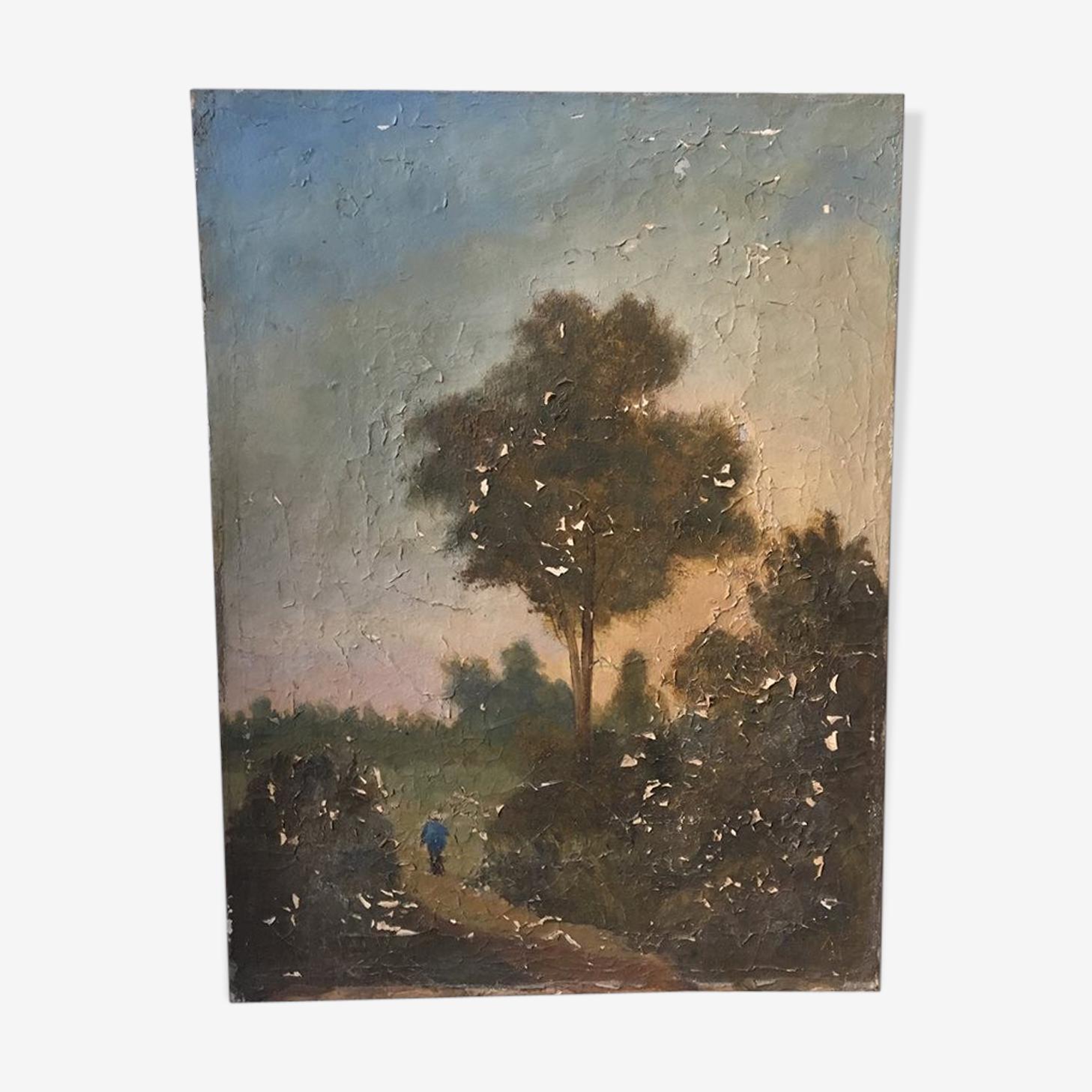 Peinture à l'huile  ancienne