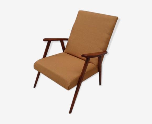 fauteuil moutarde scandinave annes 50 - Fauteuil Scandinave Moutarde