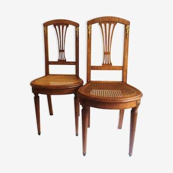 Paire de chaises des années 1930
