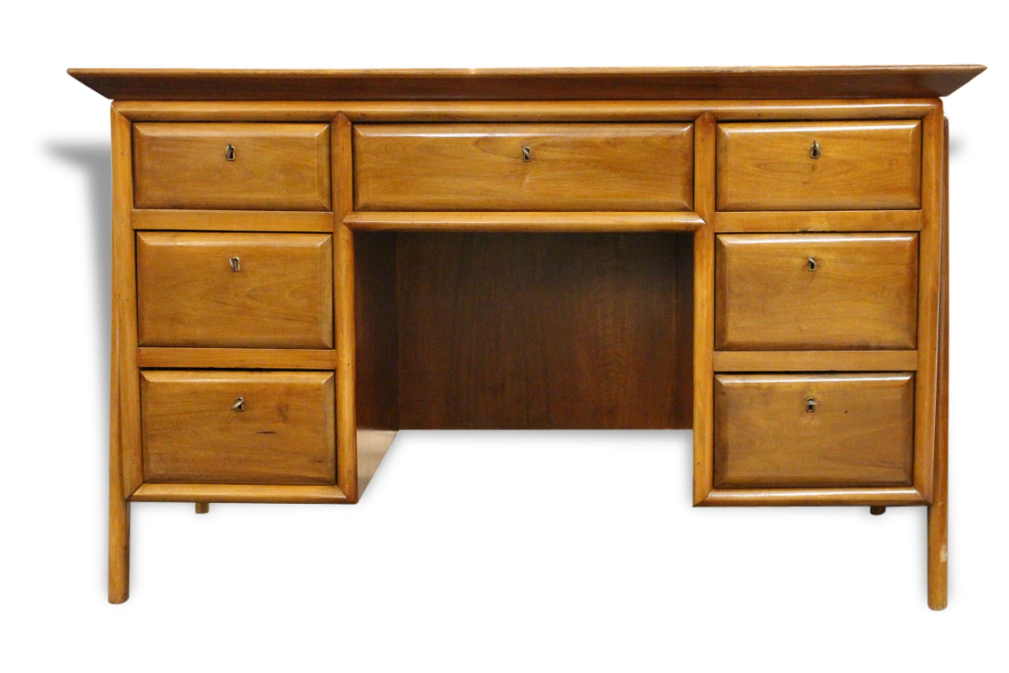 Bureau italien des années 50 bois matériau scandinave 89477