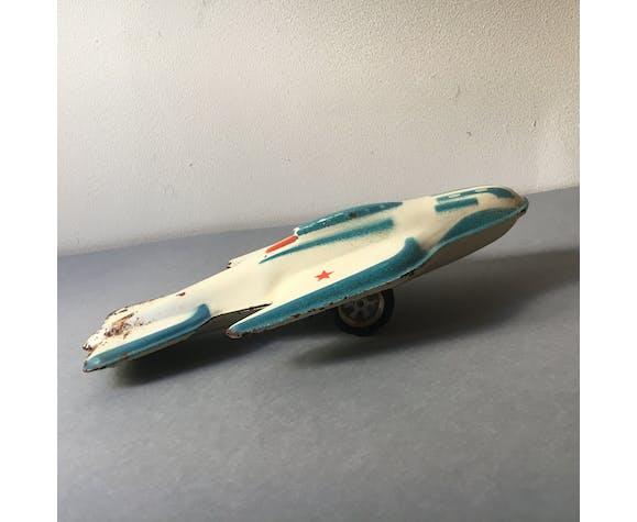 Ancien jouet sovietique avion en tole 1970 cccp