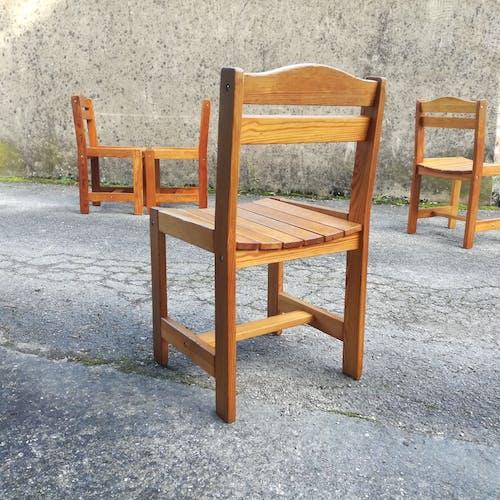 Chaises de chalet français 1970