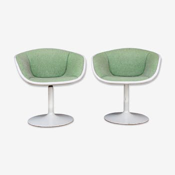 Rare pair of chairs F8800 of Pierre Paulin by Artifort