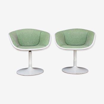 Rare paire de chaises F8800 de Pierre Paulin par Artifort,