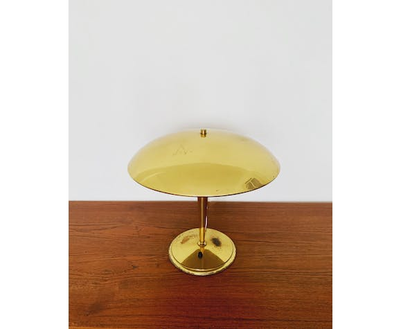 Magnificent large Mid Century Modern brass table lamp