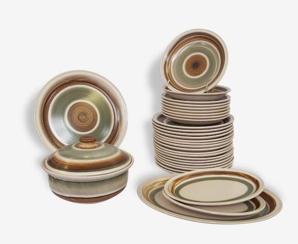 service de table ann es 70 c ramique porcelaine. Black Bedroom Furniture Sets. Home Design Ideas