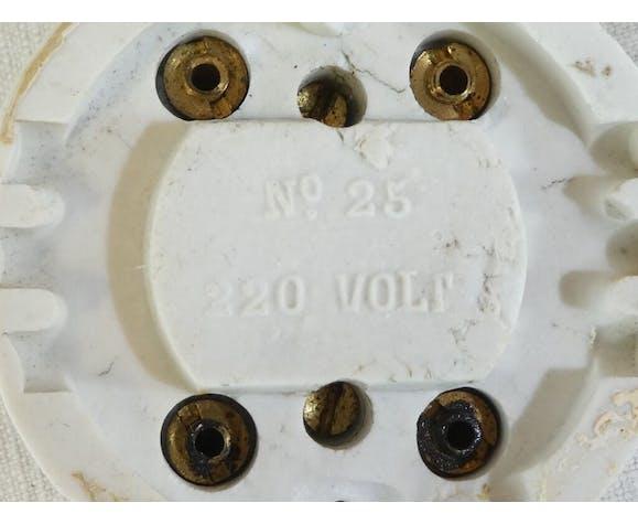 Interrupteurs porcelaine et laiton vintage industriel
