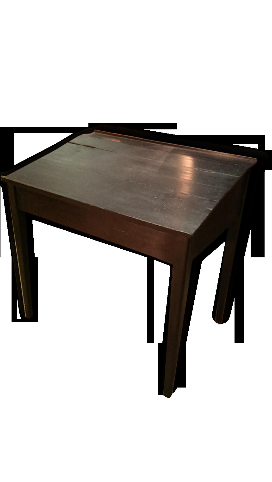 Bureau de pente bois noirci bois matériau noir classique