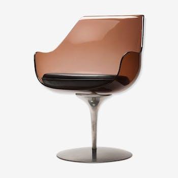 Chair 'Champagne' plexiglass Lucite by Estelle & Erwin Laverne 1960 s