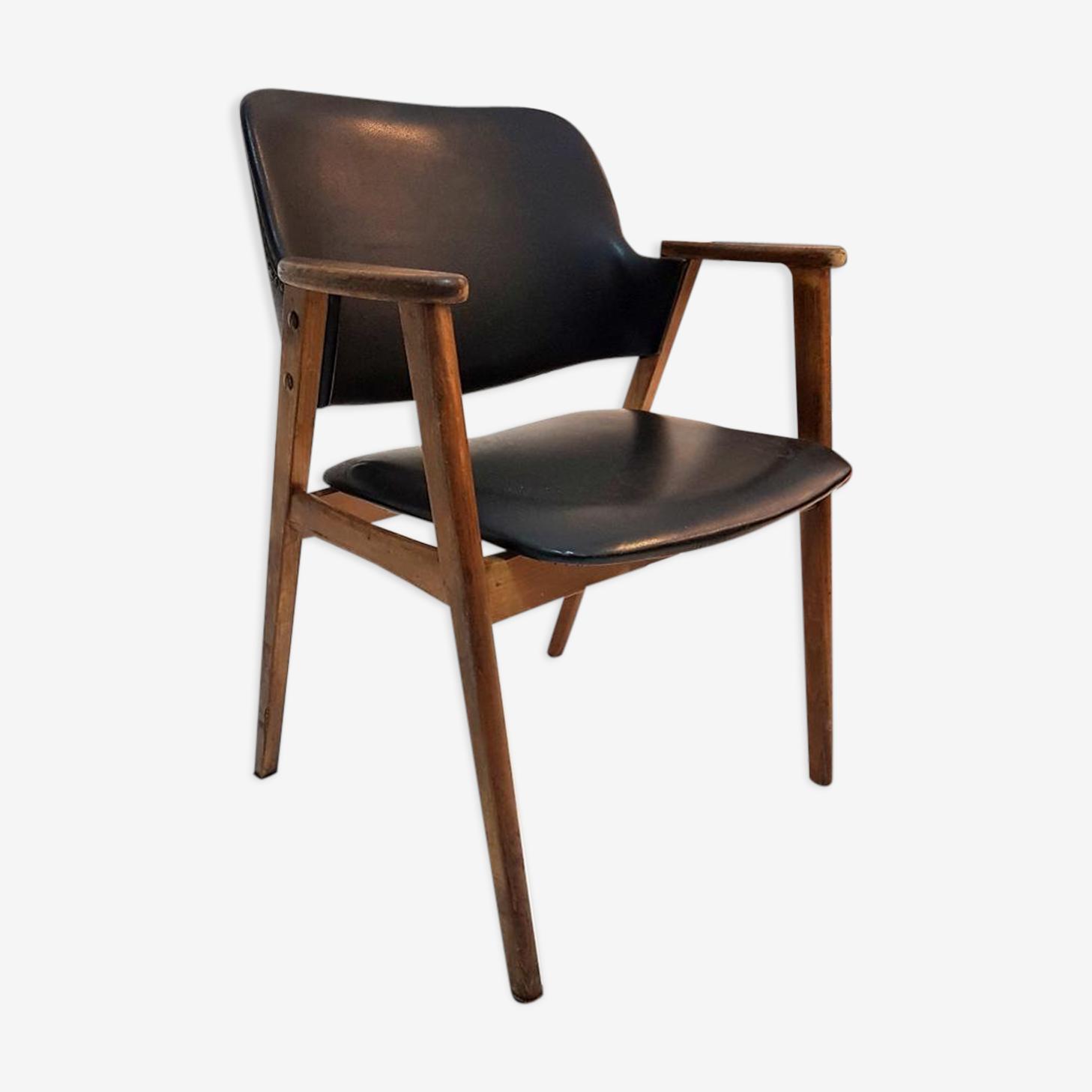 Chaise en teck scandinave 1960s