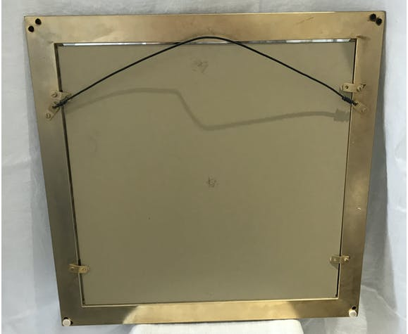 Silver and gold chrome mirror - 53x53cm