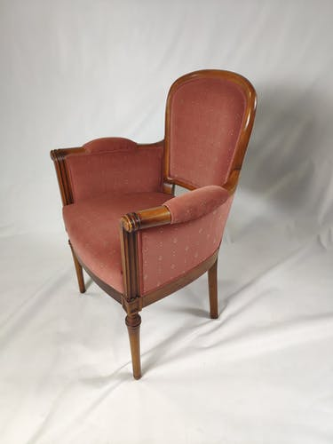 Pink style armchair Louis XVI