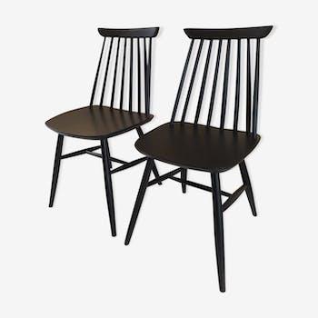 Paire de chaises scandinaves 1950