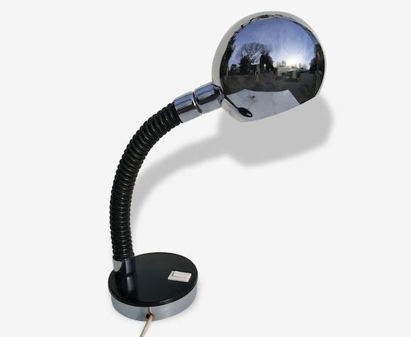 Lampe InoxAnnées 70 Bureau De À PoserFlexible Boule Métal 8NyvOPmn0w