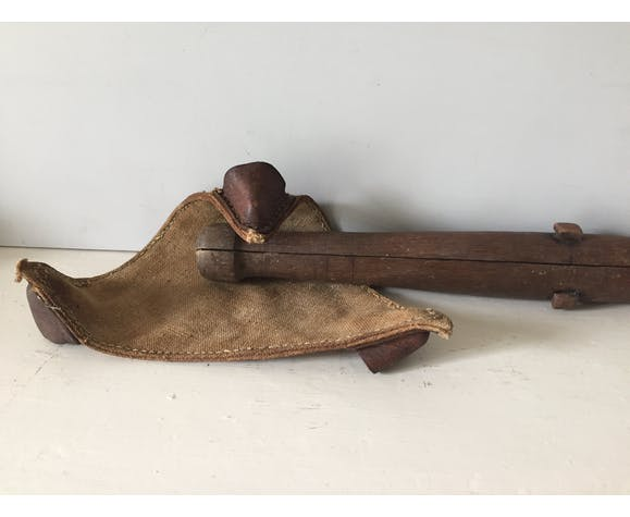 Trépied de chasse bois jute et cuir