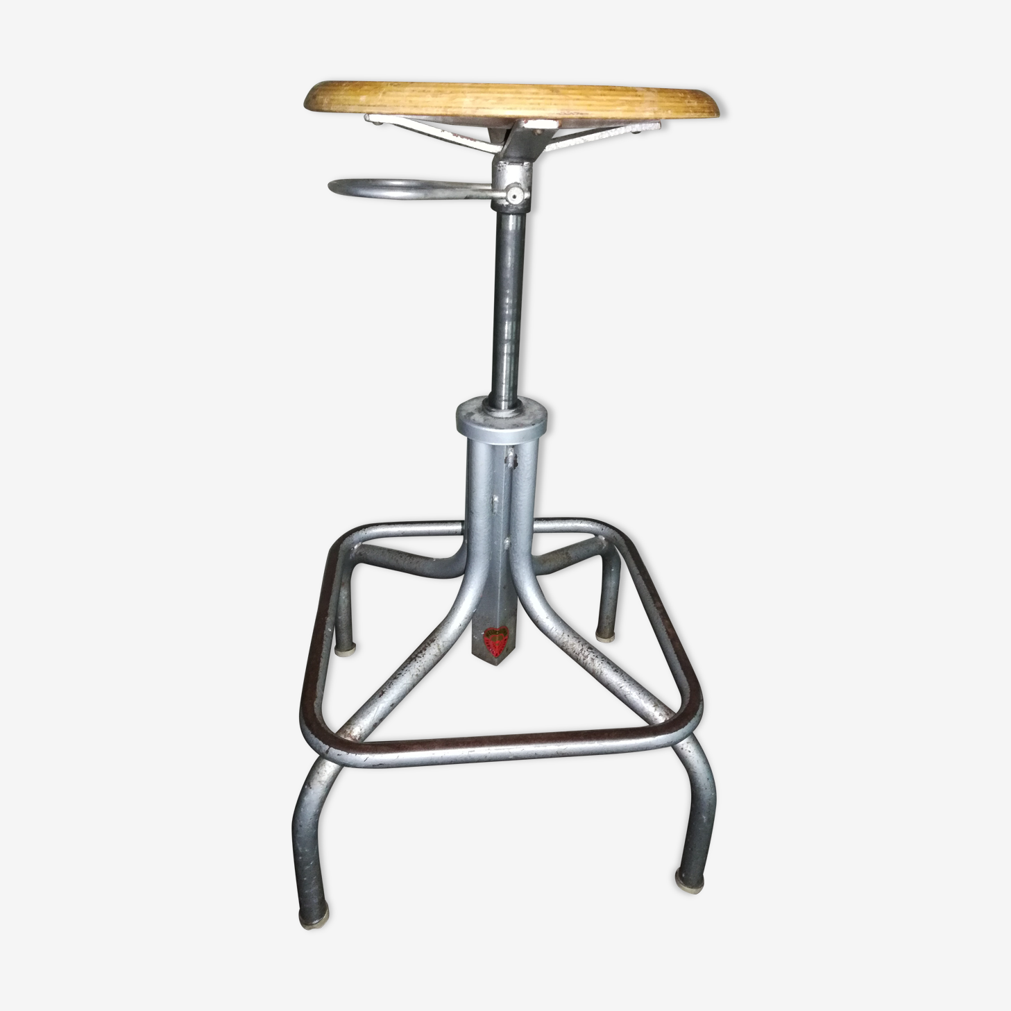 Industrial stool of designer brand Heliolithe