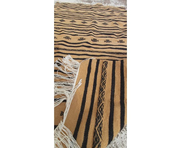 Handmade multi-coloured kilim rug in pure wool  - 150x90cm