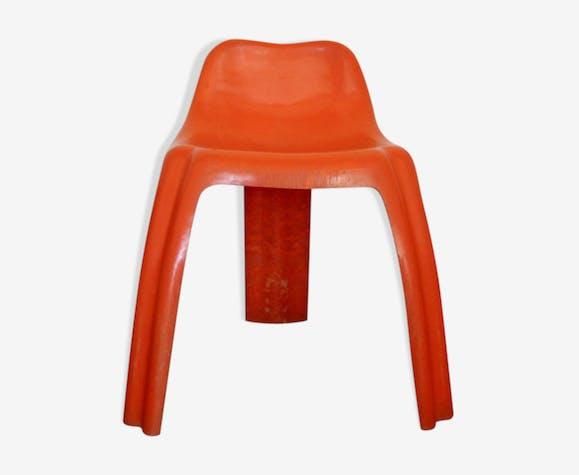 Chaise Ginger orange de Patrick Gingembre, éditée par Paulus, France, 1973