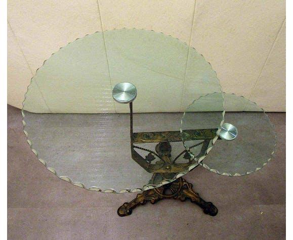 Guéridon métal et verre