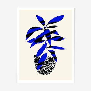 Bleu & Noir limited edition giclee print by HelloMarine