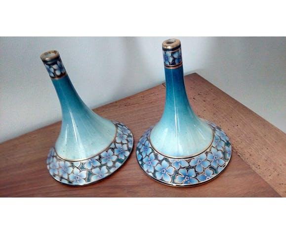 Duo de pieds de lampes Lunéville Keller et Guérin
