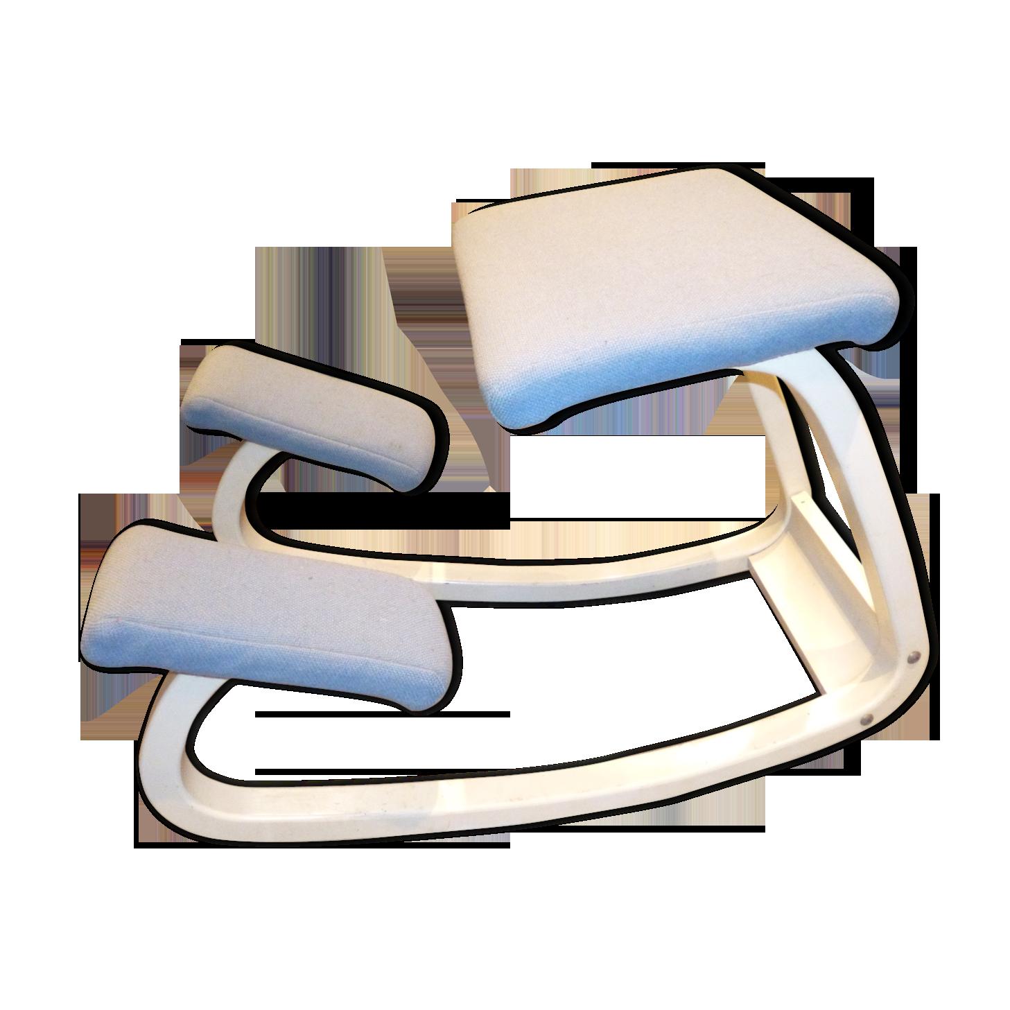 Chaise de bureau stokke bois matériau bleu scandinave