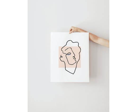 Affiche A3 - Apollon Beige - 29,7 cm x 42 cm