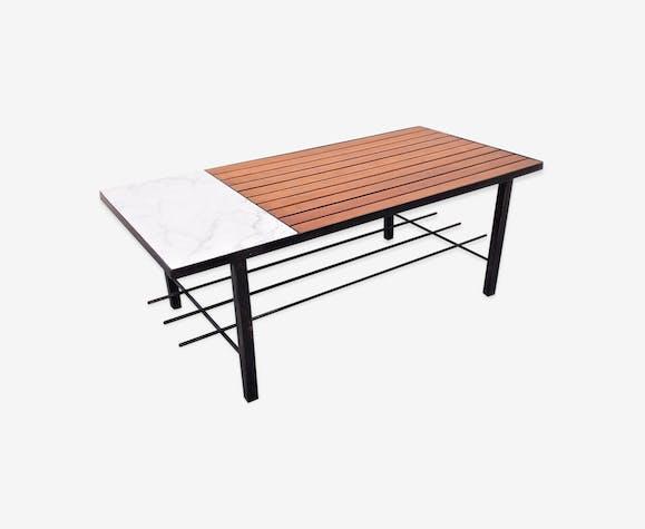 Table basse moderniste vintage années 50