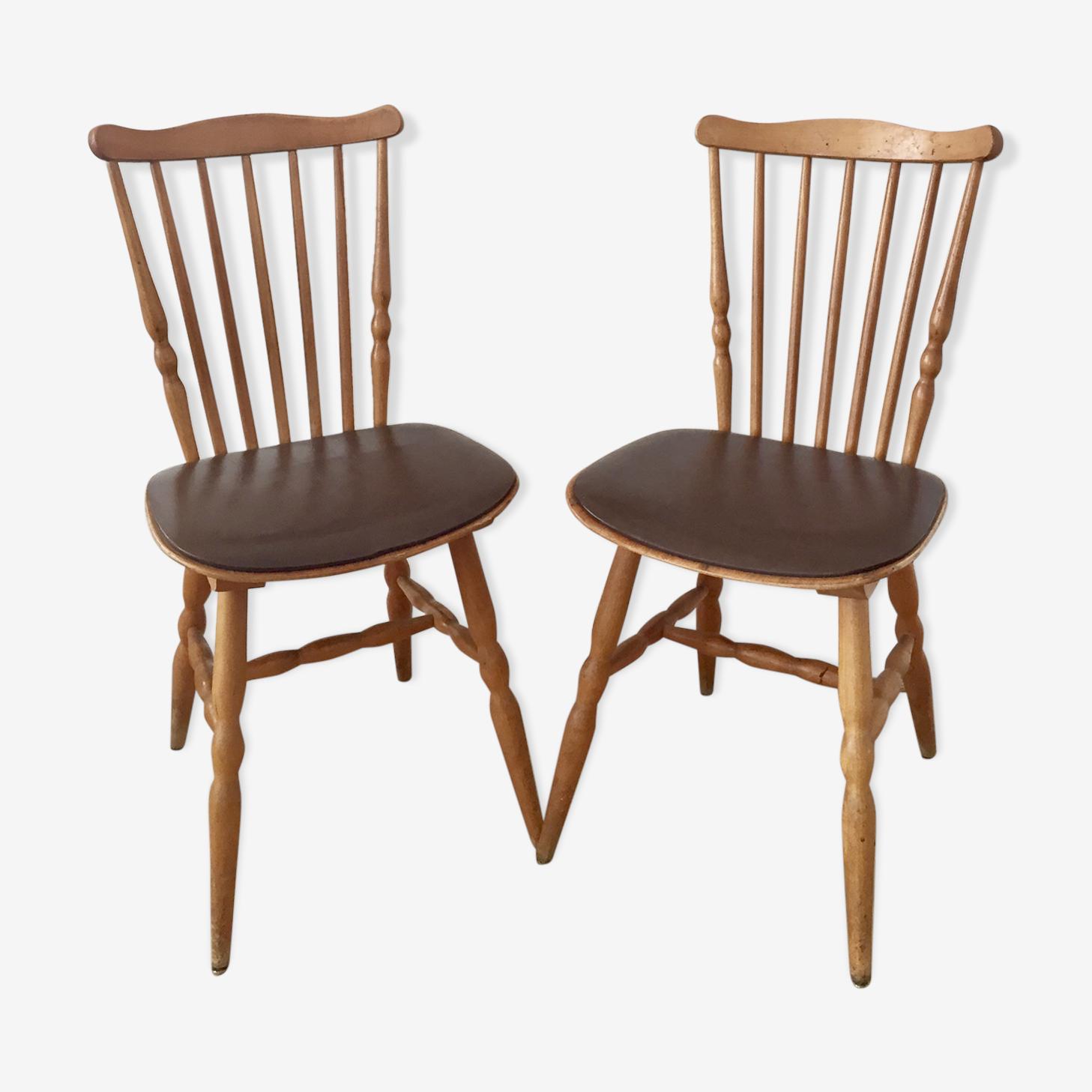 Paire de chaises Baumann modèle Tacoma année 60