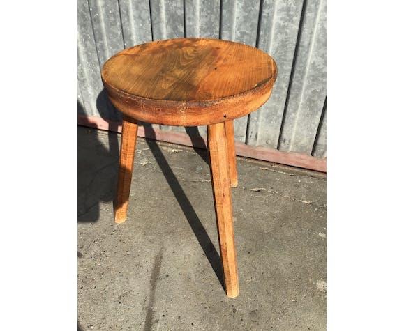 Rustic rustic natural wood stool