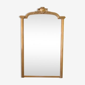 Mirror of style Louis XVI wood painted in gold