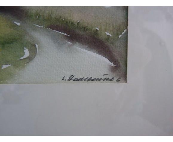 Peinture aquarelle de Lutz Stadlbauer tableau