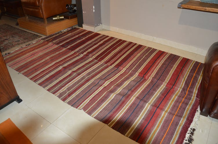 Kilim rug striped 163 x 260 cm