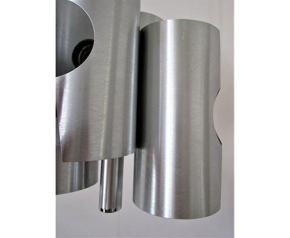 Suspension space age aluminium brossé années 70