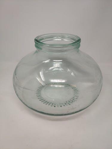 Bluish glass bonbonnière